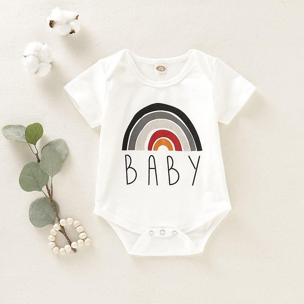 Infant Cute Rainbow Romper