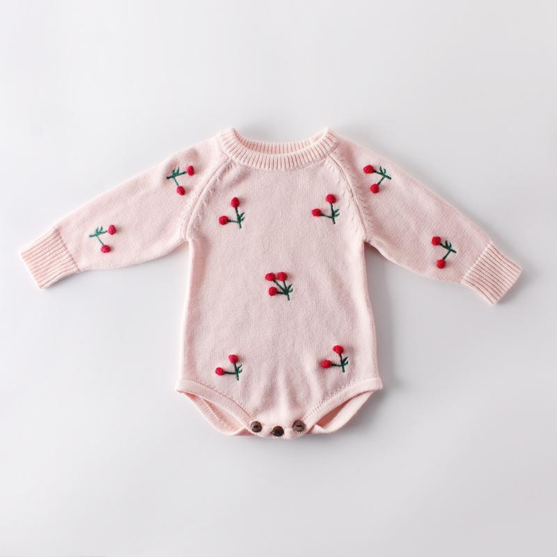 Baby Cherry Knit Jumpsuit