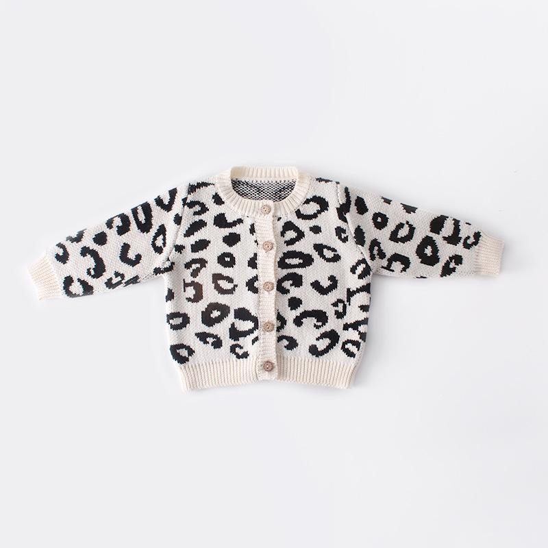 Baby Girl Leopard Knit Sweater