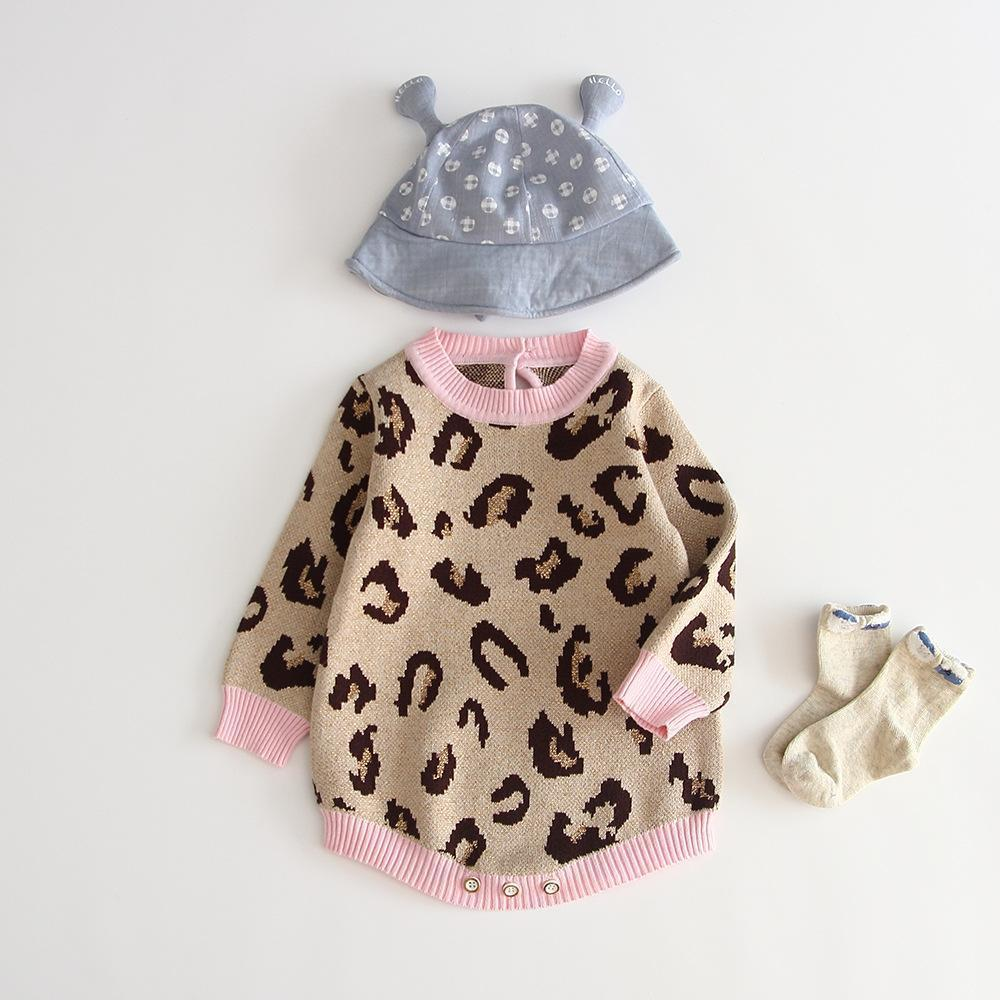 Baby Knitted Leopard Cotton Romper