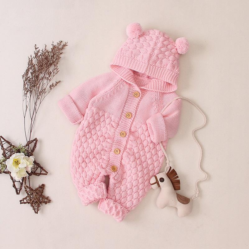 Baby Hooded Knit Jumpsuit