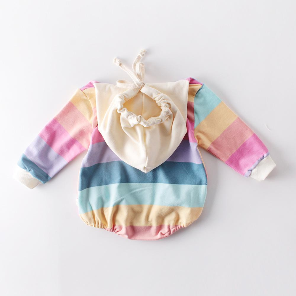 Baby Rainbow Hooded Romper