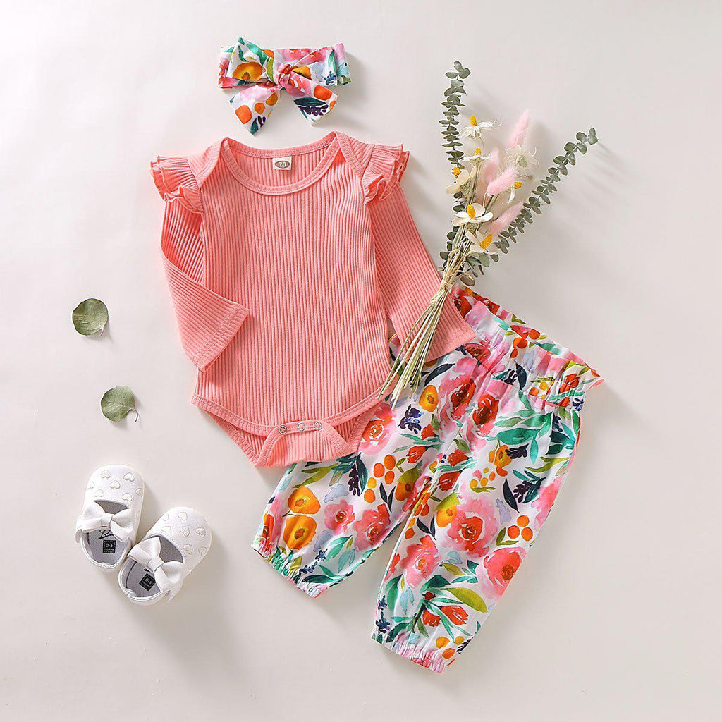 3-Piece New Girl Cute Flower Suit