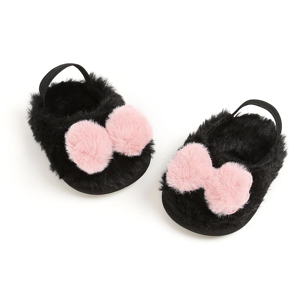 Baby Girl Plush shoes Bow