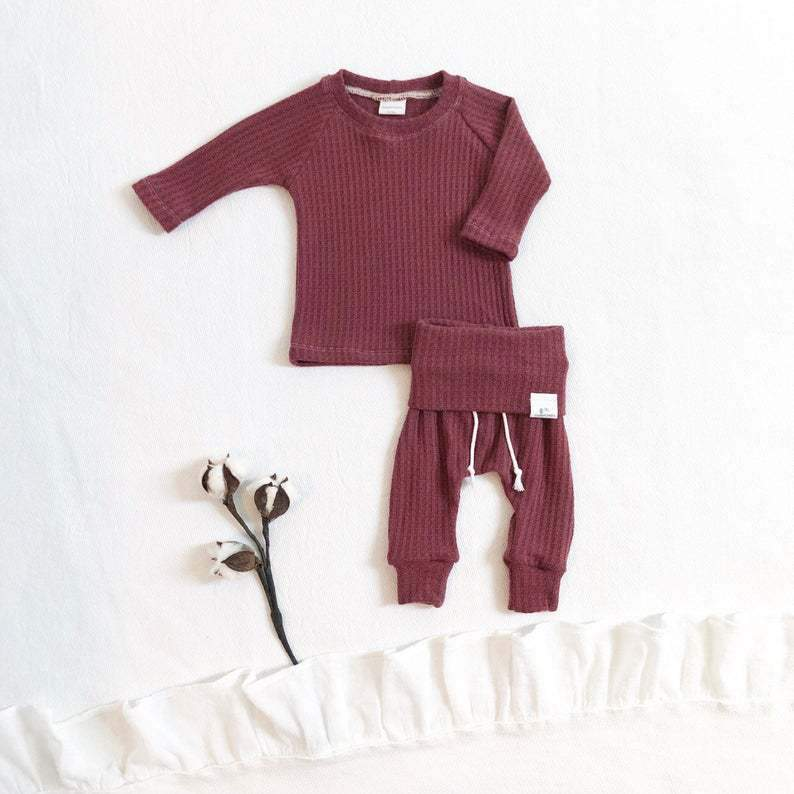 2-Piece Baby Knit Cotton Sweater Suit