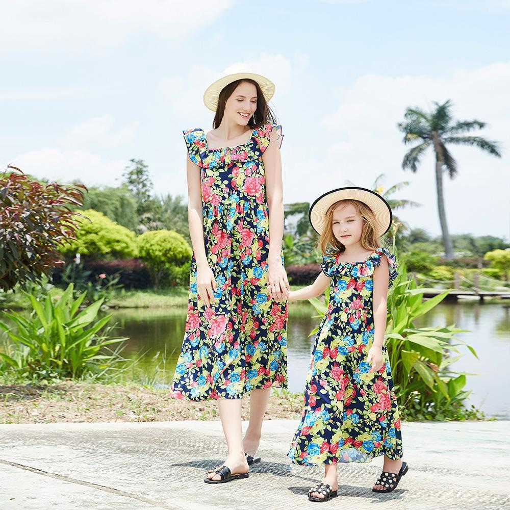 Girl Floral Parent-child Dress