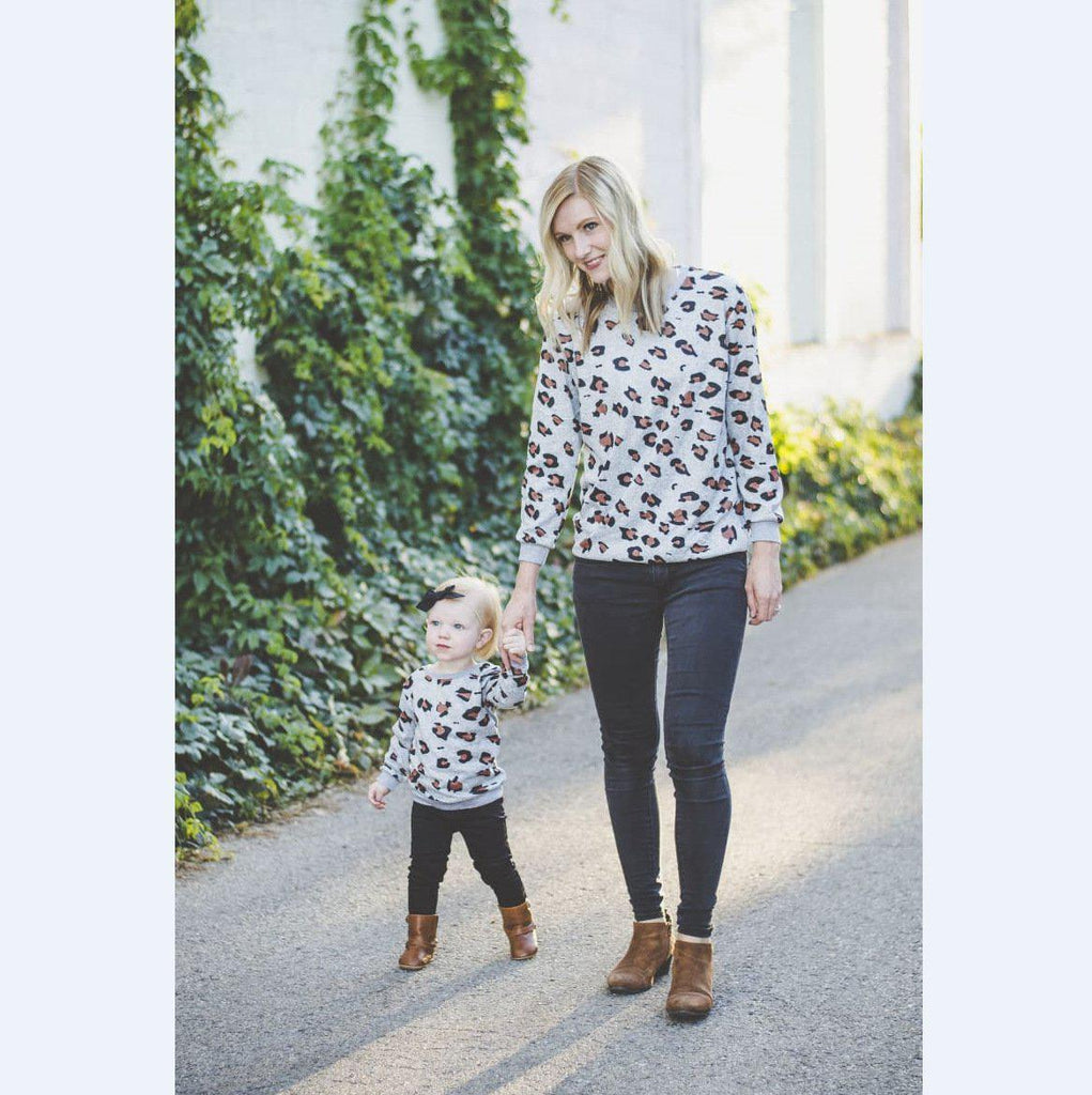 Girl Leopard Print Parent-child Dress