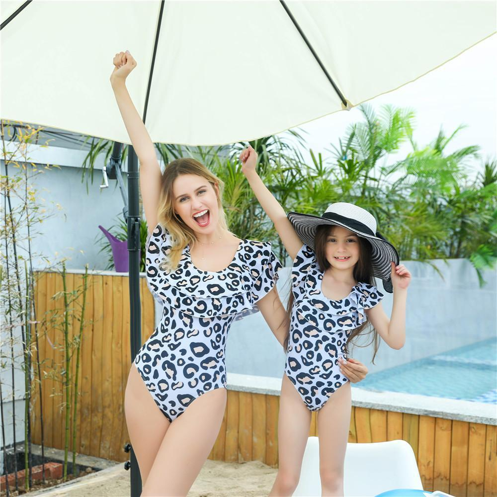 Mother & Daughter Ruffled Swimsuit