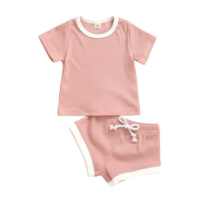 2-Piece Summer Short-sleeved Baby Suit