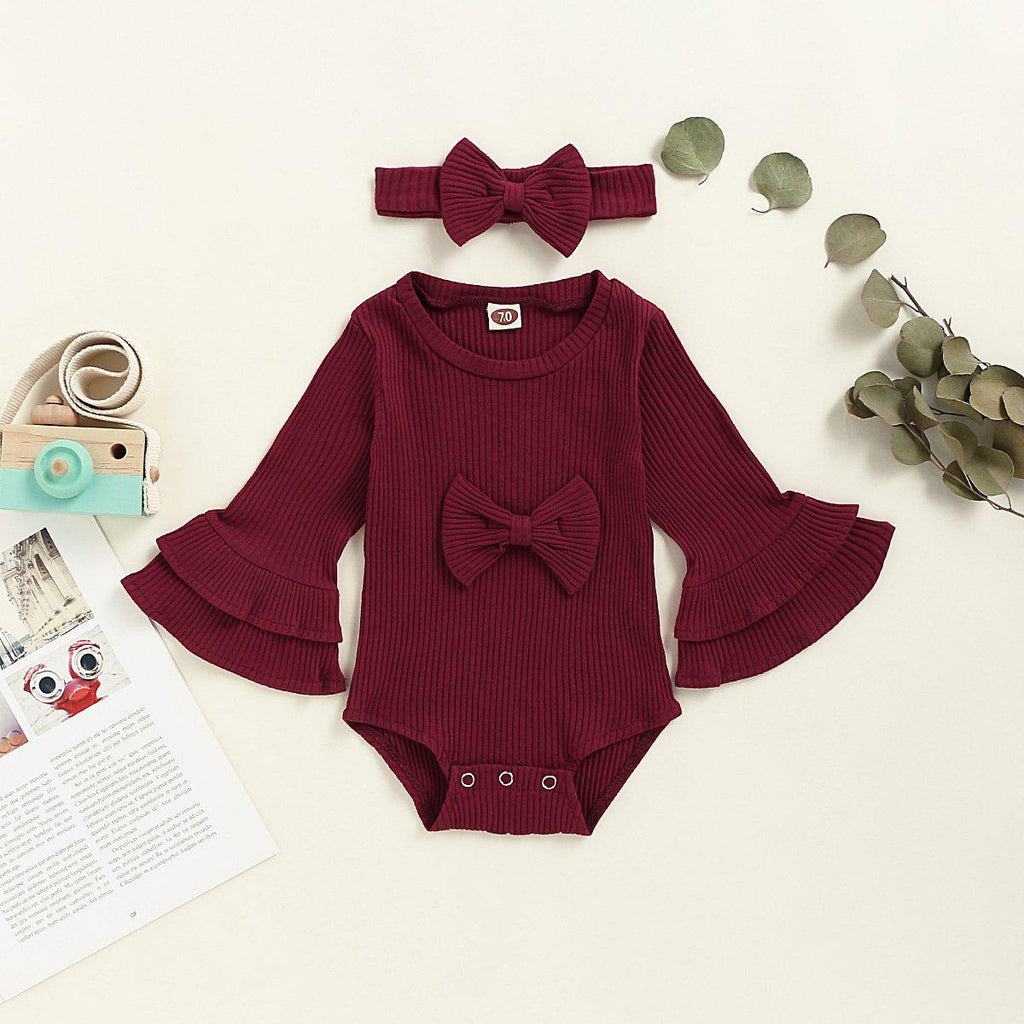 Girl Cute Bow Romper