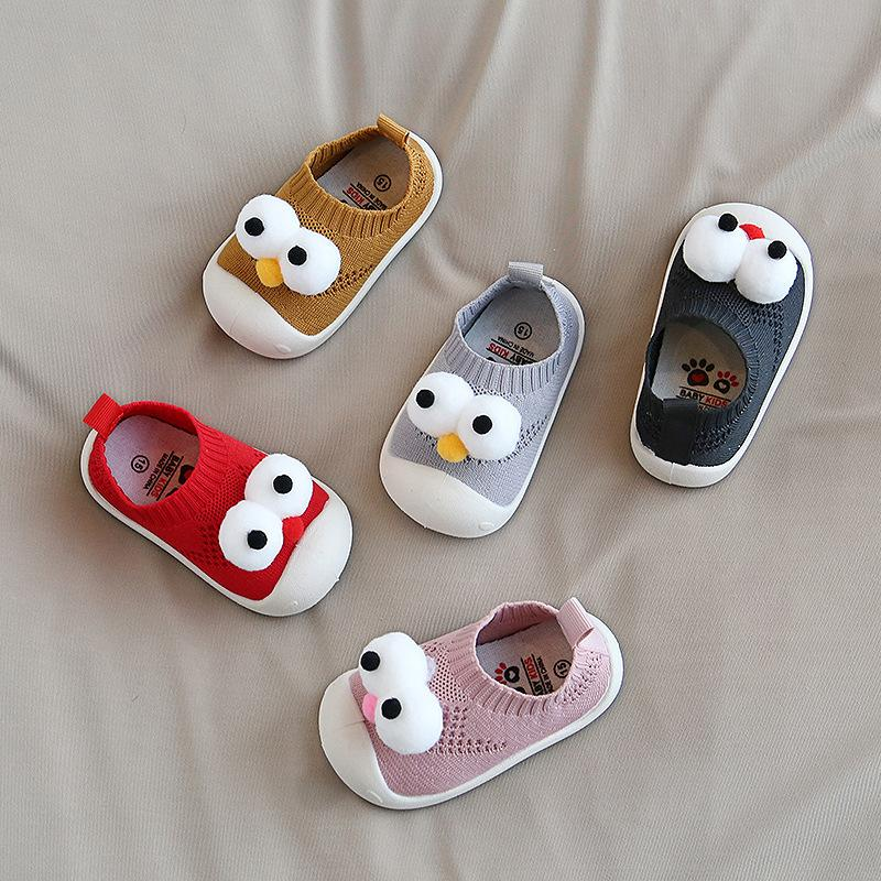 0-4Y Baby Big Eyes Non-slip Soft Shoes
