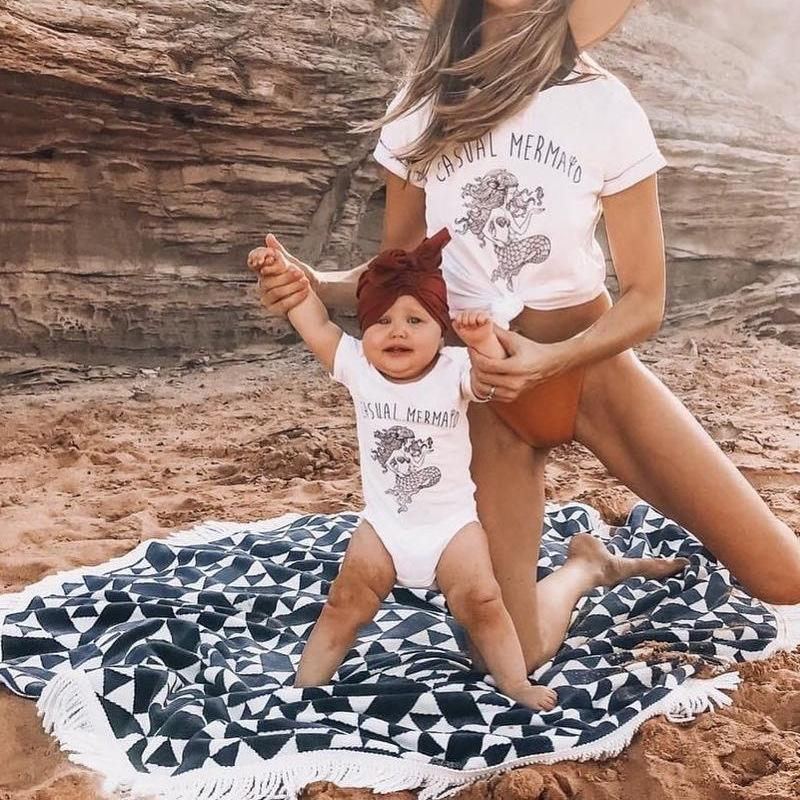 Mommy&Me Mermaid Romper T-Shirt