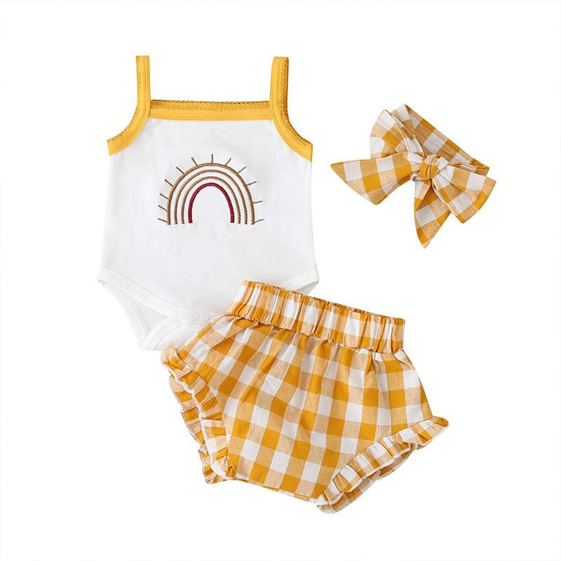 2-Piece Sling Baby Suit Rainbow