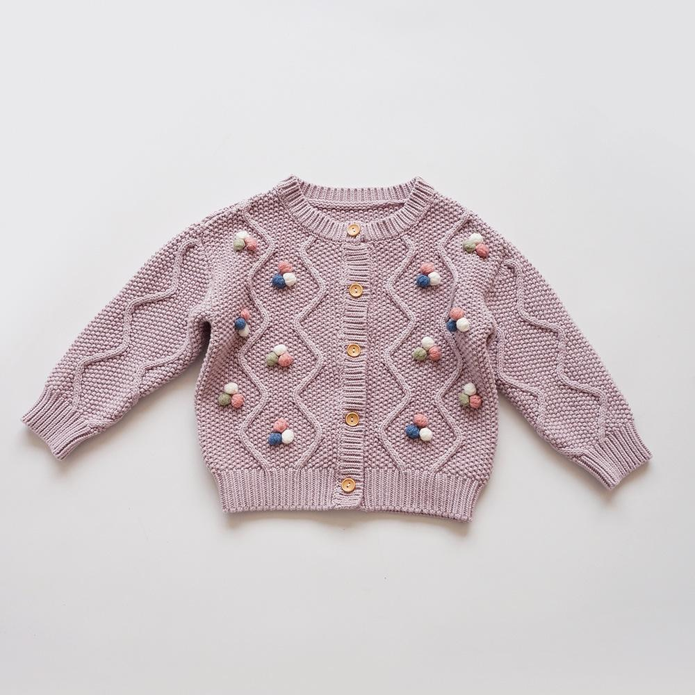 Girls' Knitted Sweater Coat