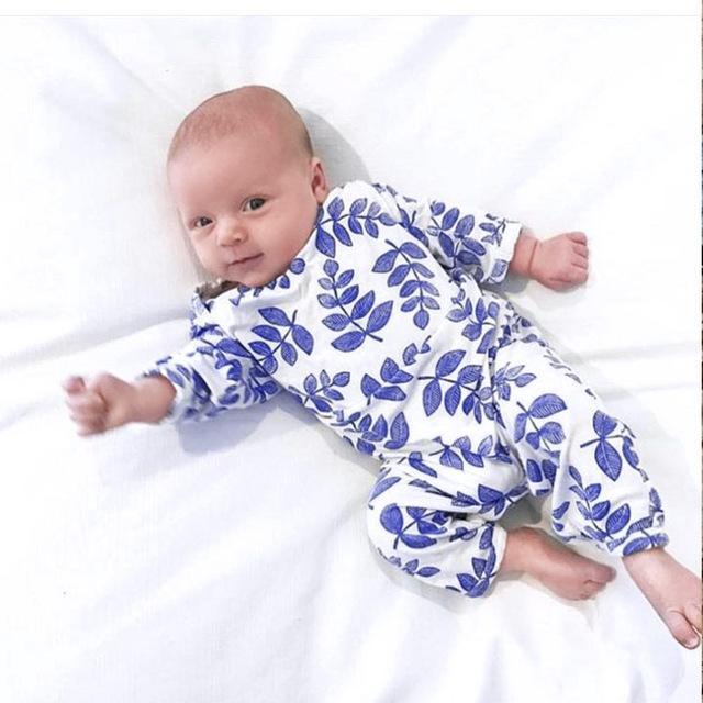 Baby Leaves Newborn Romper