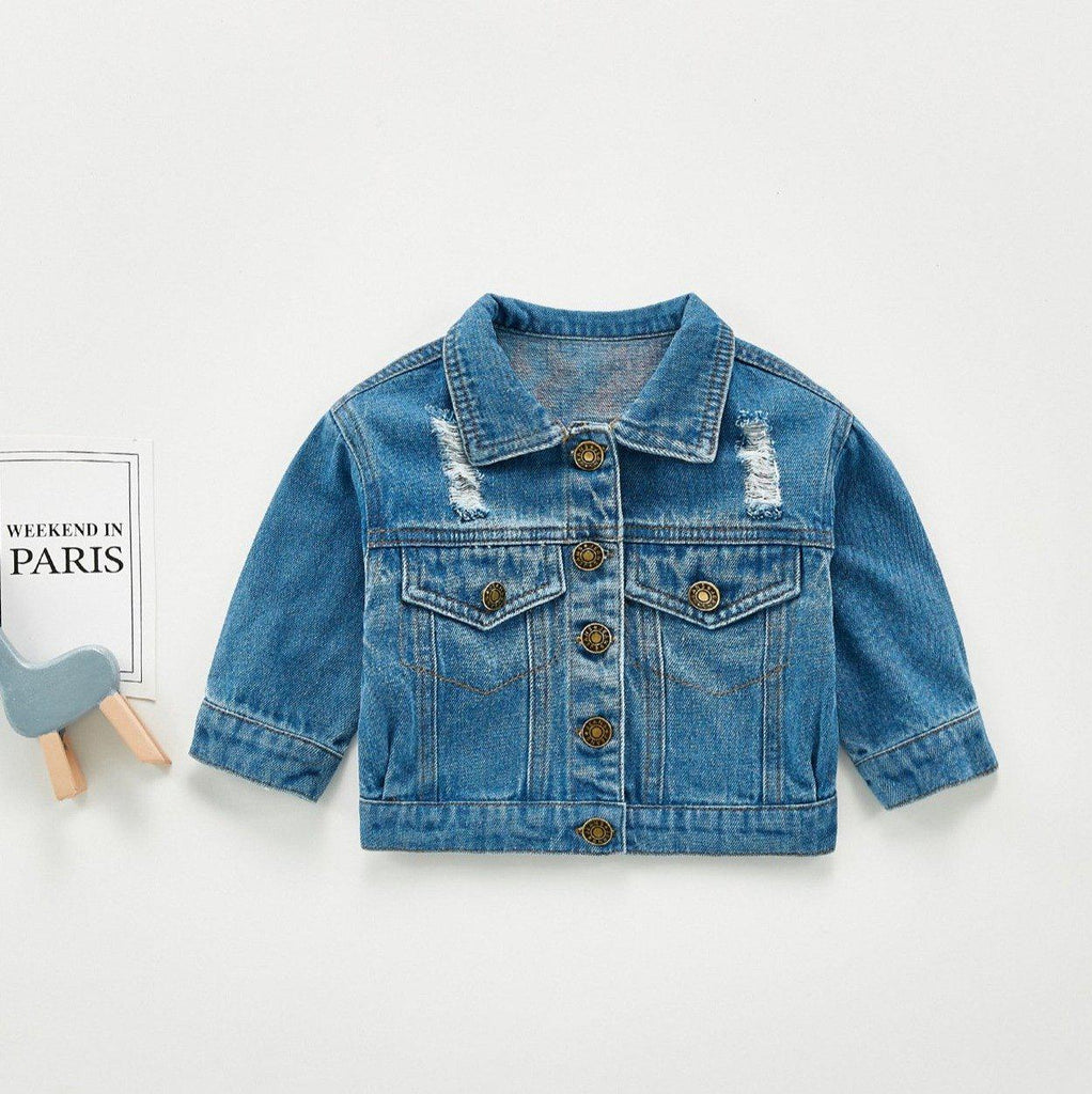 Baby Girls Cartoon Denim Jacket