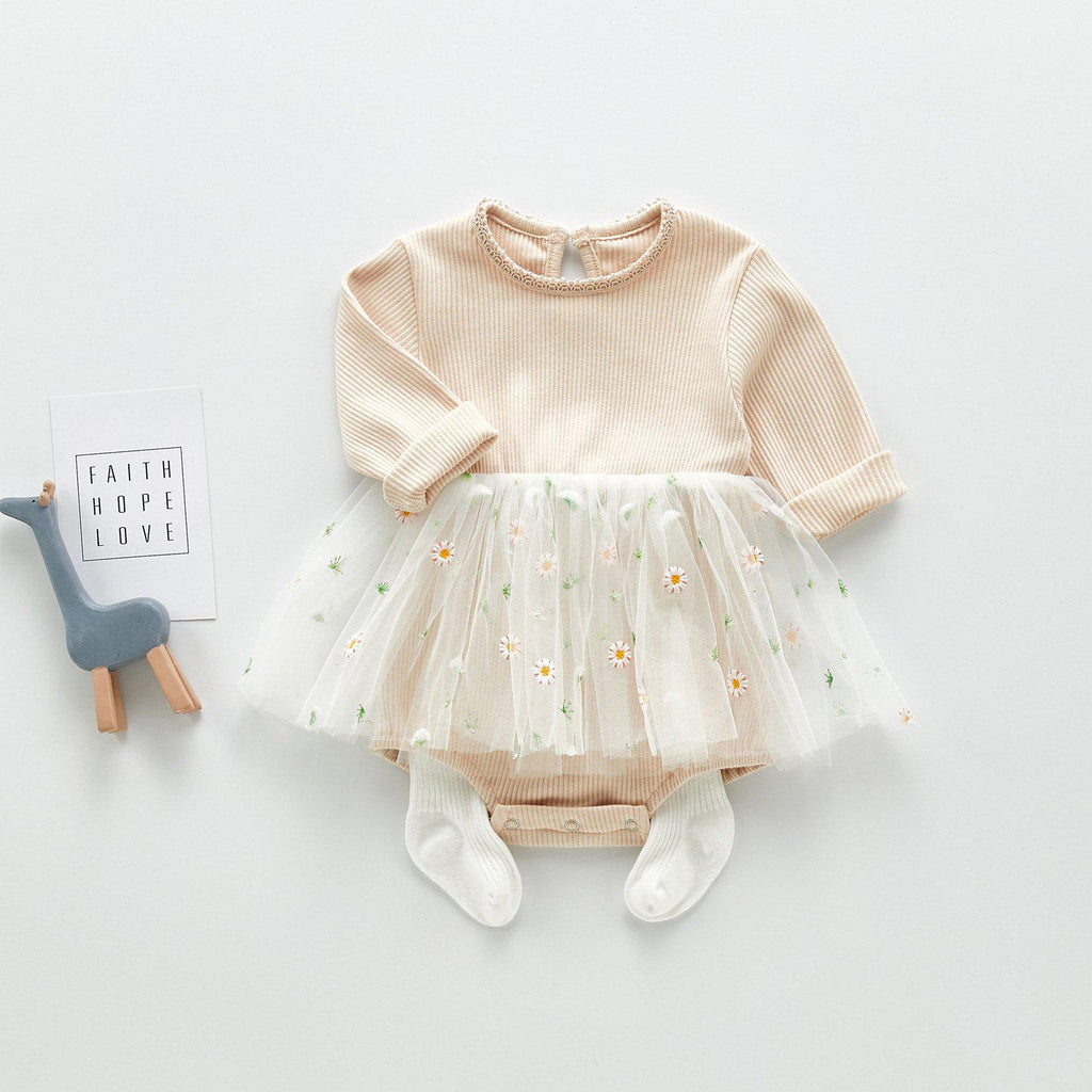 Baby Girl Little Daisy Mesh Skirt Romper