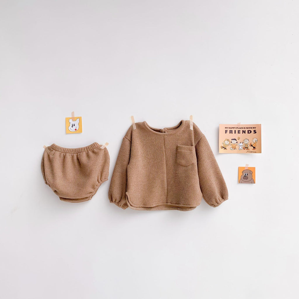 2-Piece Cute Knitted Set