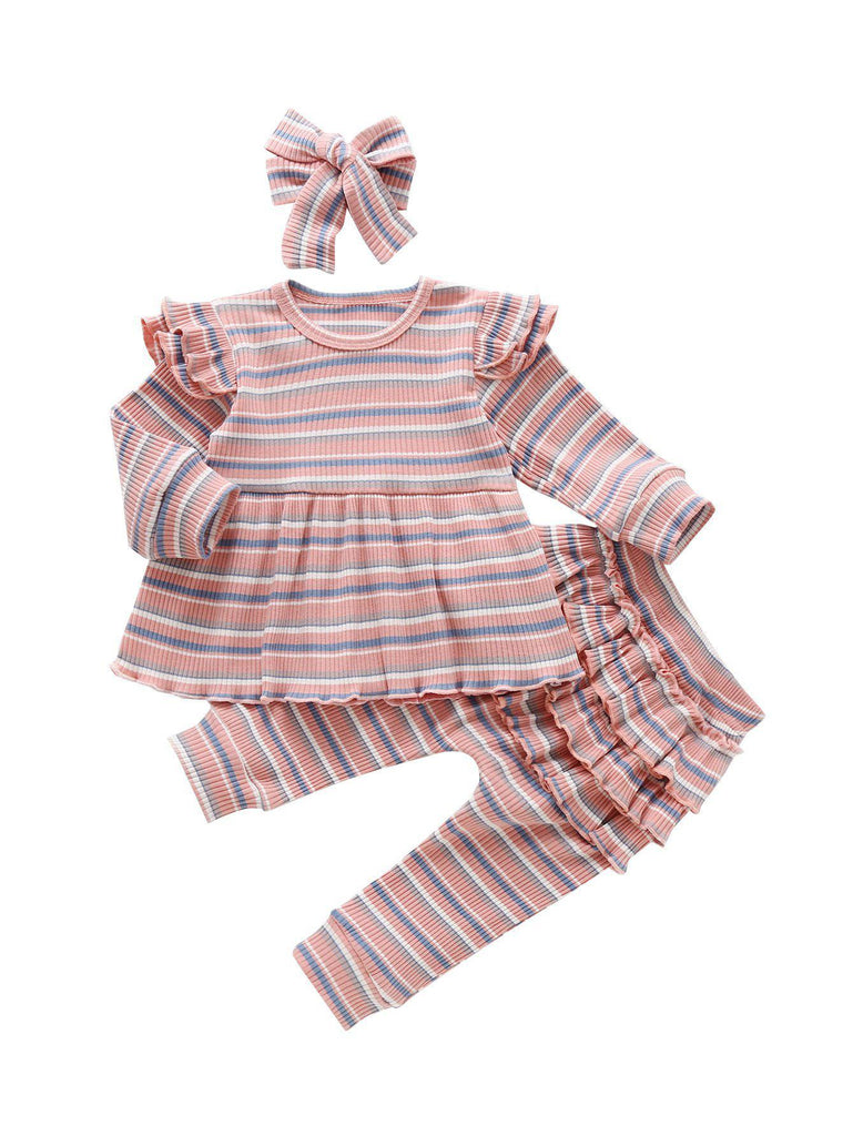 3-Piece Stripe Cotton Baby Sets