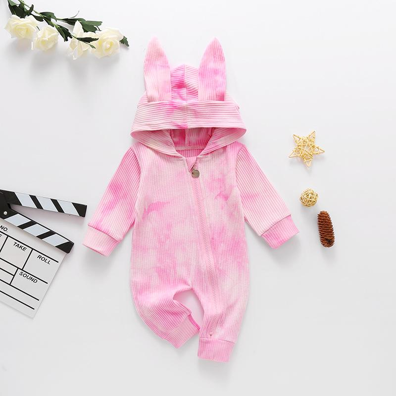 Baby Rabbit Ears Tie Dye Hooded
