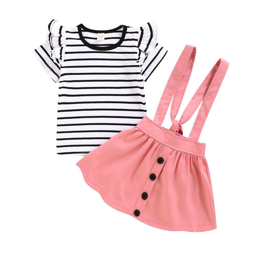 Baby Striped Cotton Dress Sets