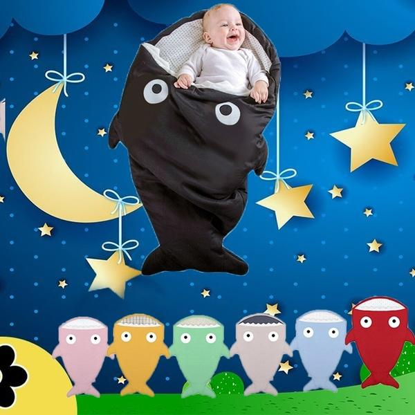 Colors Cartoon Shark Baby Sleeping Bag Newborn Winter Strollers Bed?