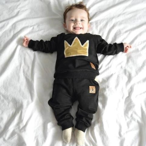 2-piece Junior Cotton Long-sleeve Crown