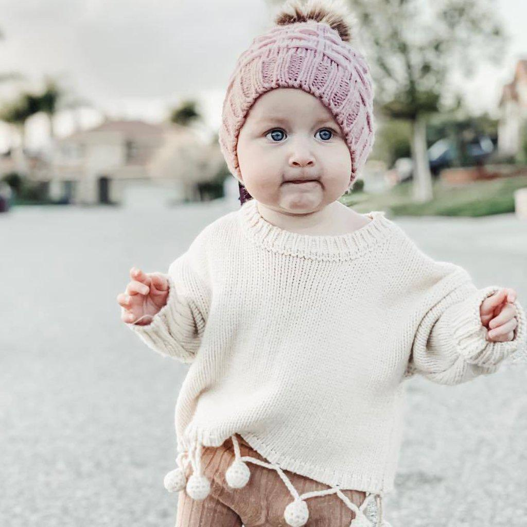 Baby Lovely ball Sassy White Sweater