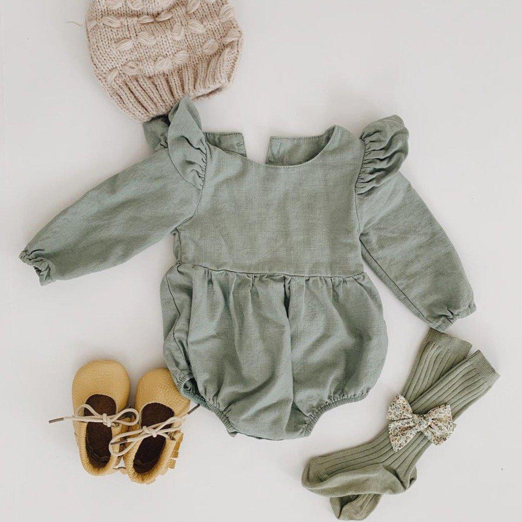 Baby Pure Cotton Linen Romper