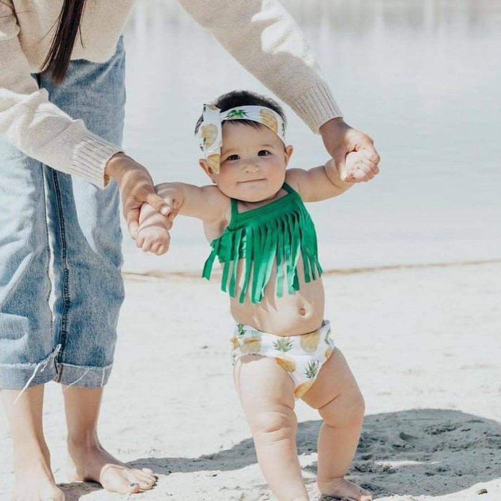 3-piece Baby Tassel Swimsuit