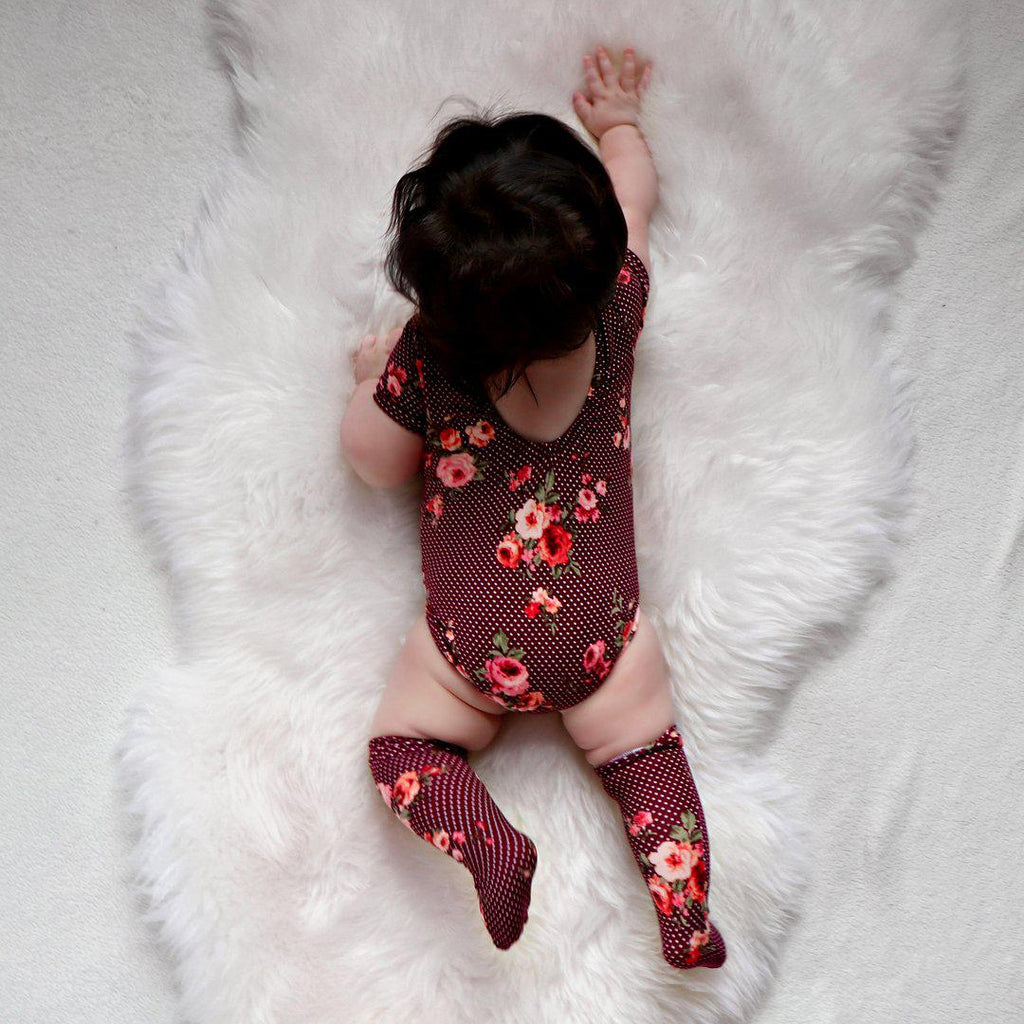 2-piece Baby Shivering Bodysuit with Socks