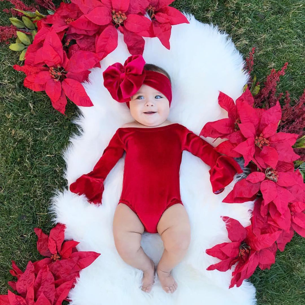2-piece Hot Baby Velvet Romper
