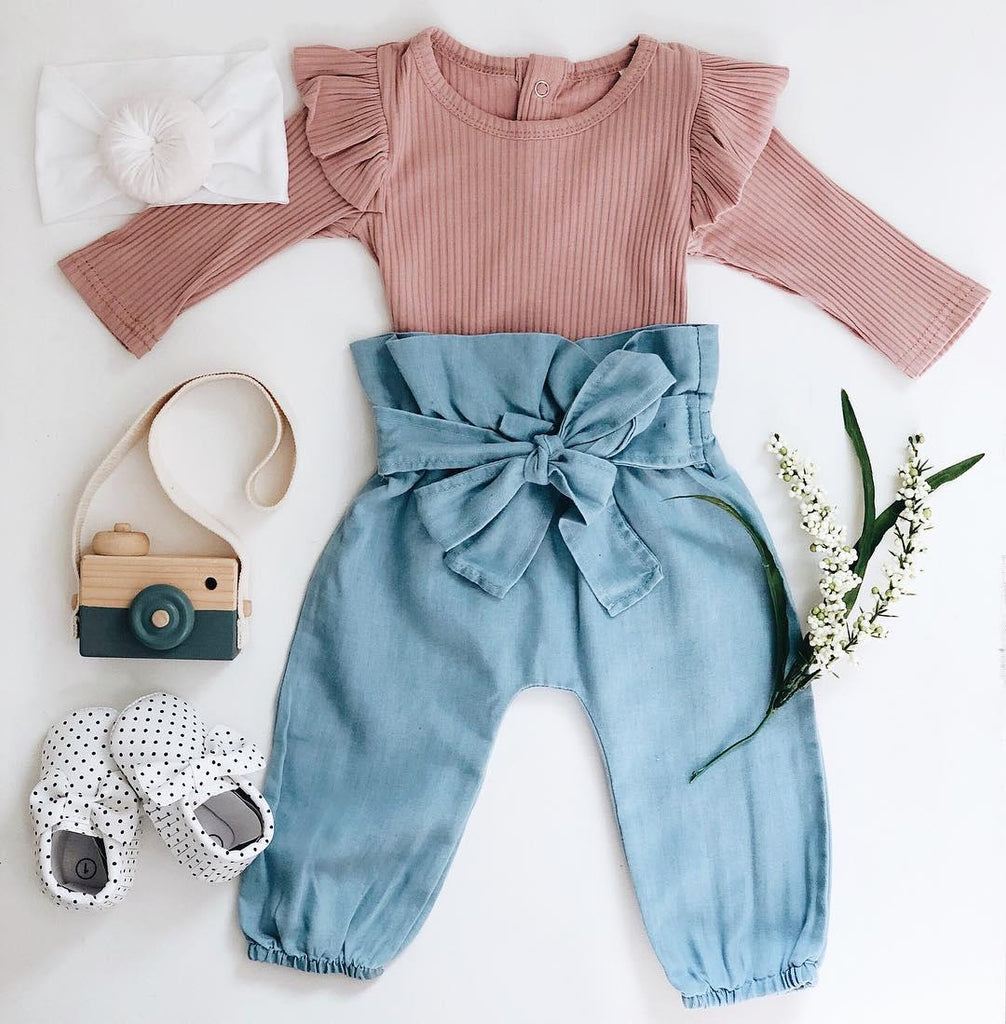 2-piece Cotton Pink Suit