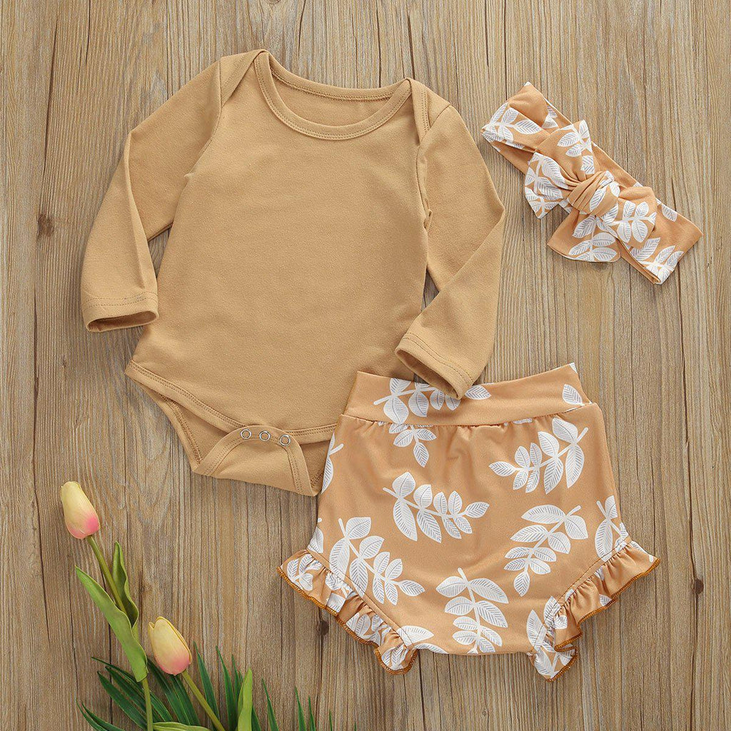 3-piece Baby Newborn Leaf Set