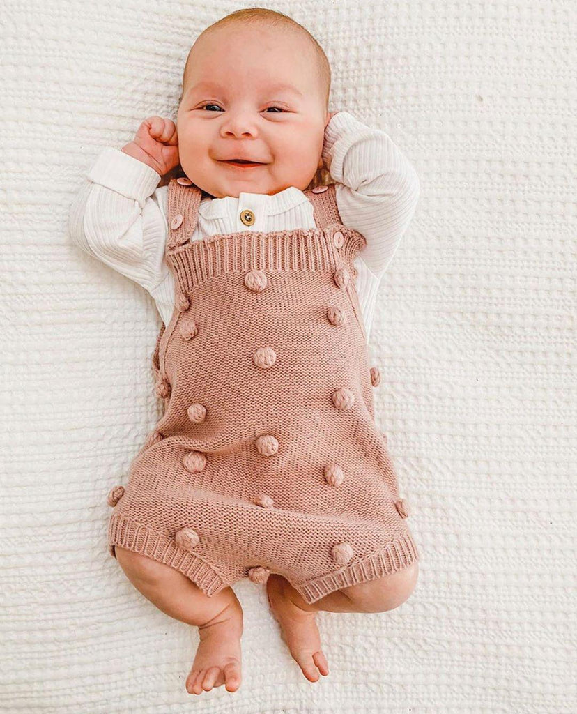Baby Girl knitting Romper