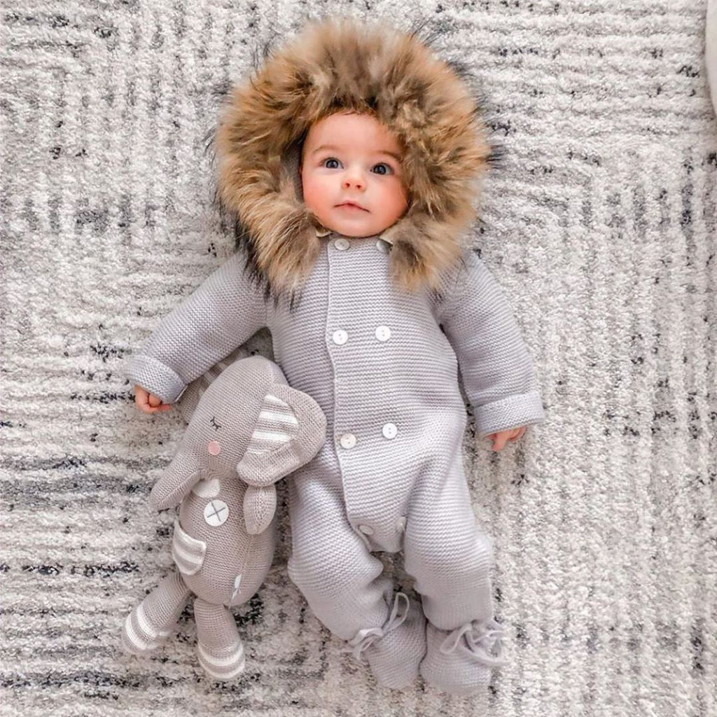 Winter Baby Sweater Jumpsuit
