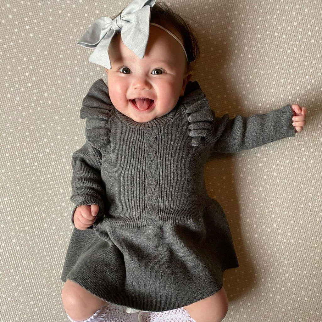 Girl Knitted Warm Dress
