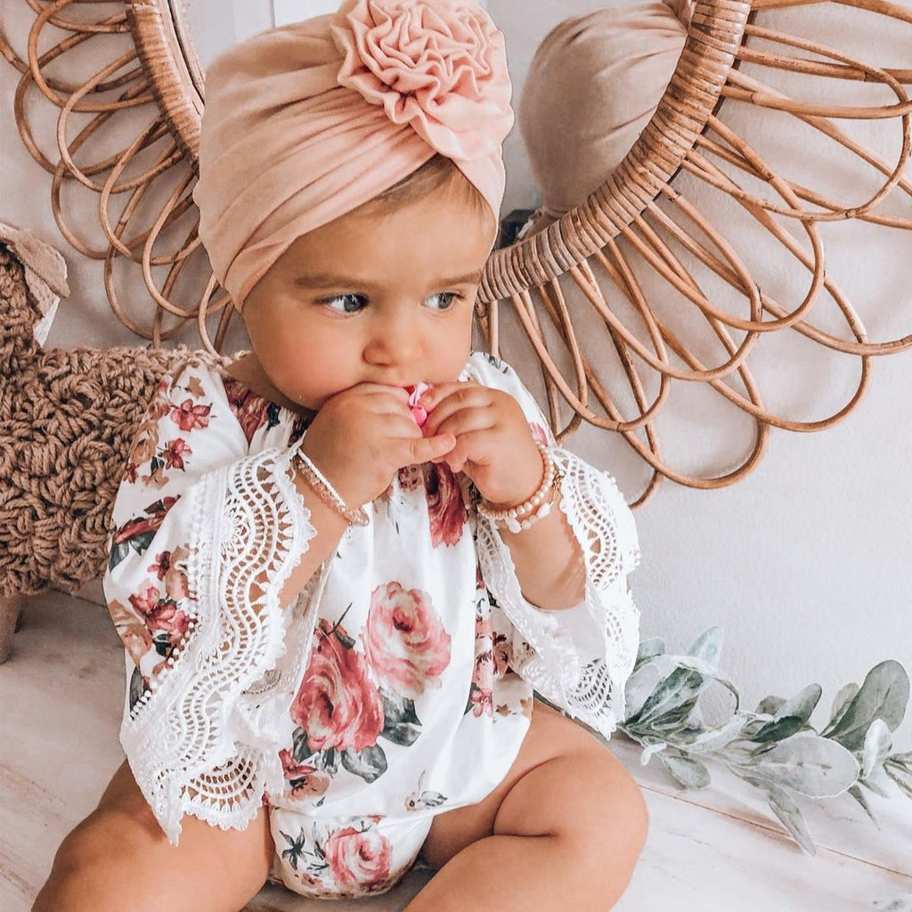Sassy Baby Floral Bell Romper
