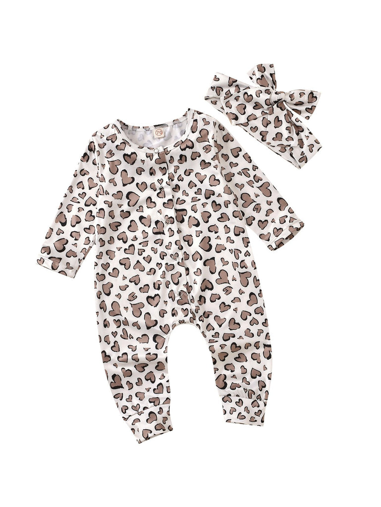 Baby Girl Leopard Romper Suits