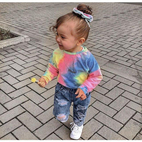 Baby Girl Tie-dye Cotton Suits