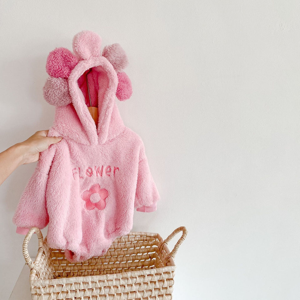 Baby Girl Pink Velvet Warm Coat