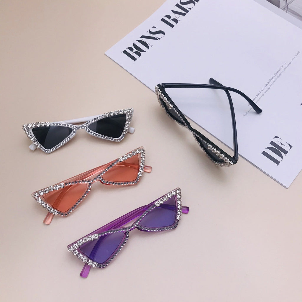Girls Diamond Triangle Sunglasses
