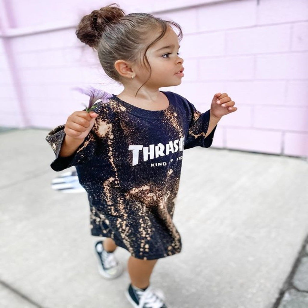 Girls T-shirt print dress