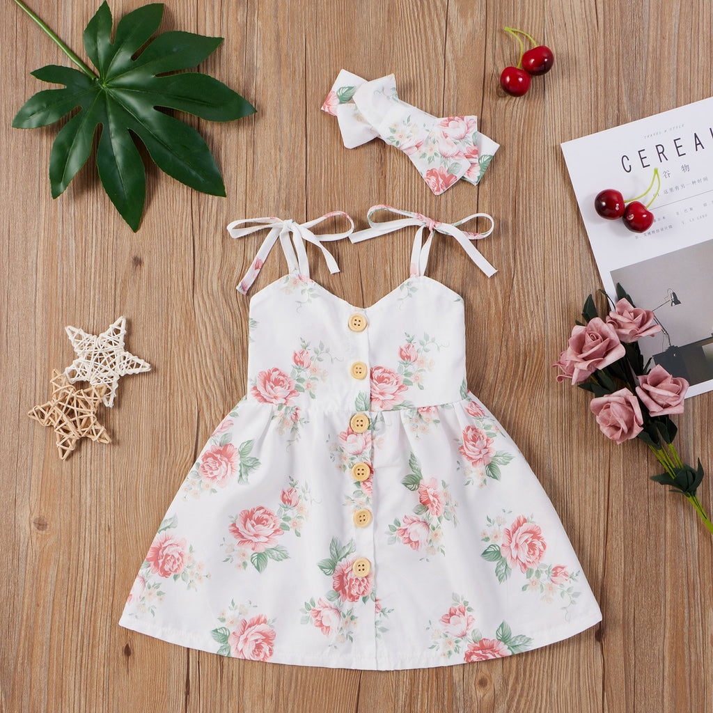 2-Piece Baby Floral Cotton Dress