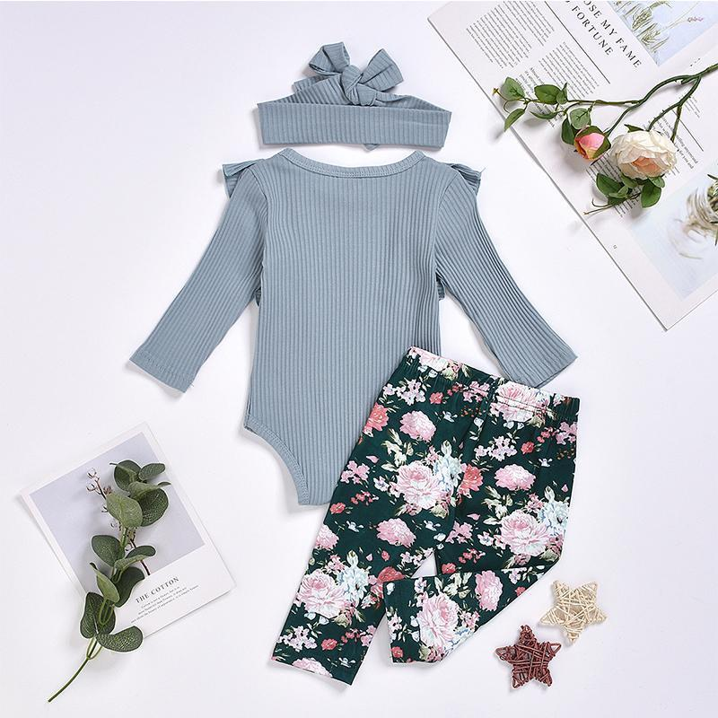 3-Piece Baby Floral Sets