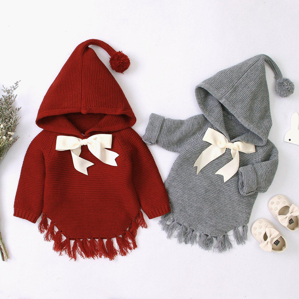 Baby Hooded Bow Sweater