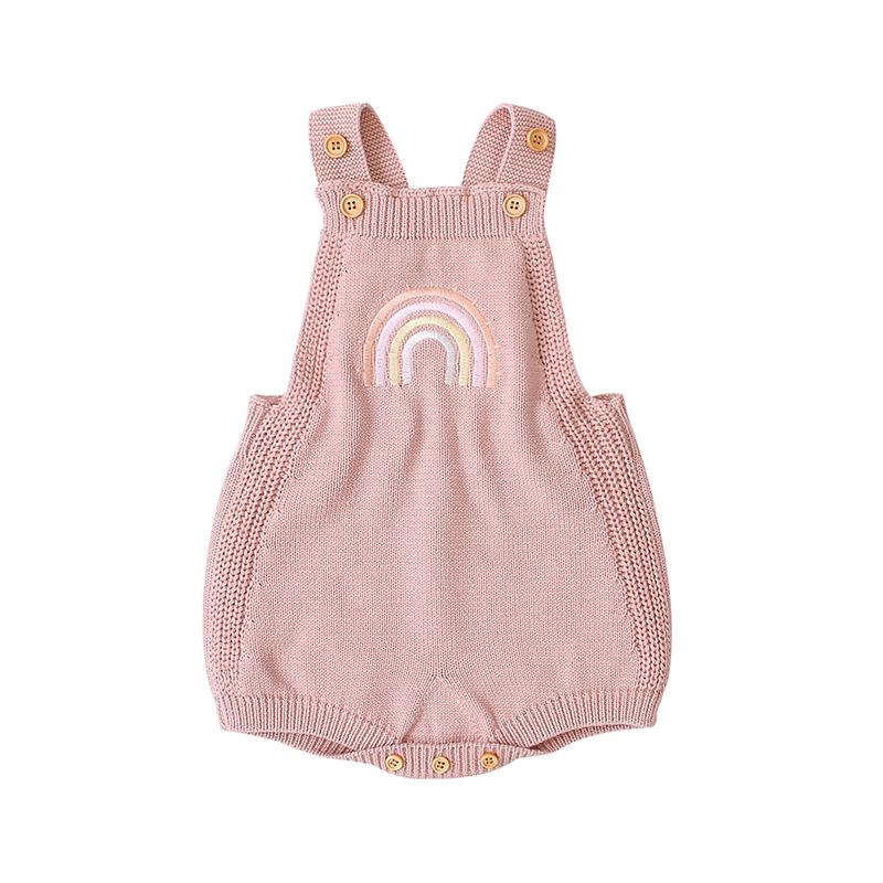 Baby Knitting Rainbow Romper