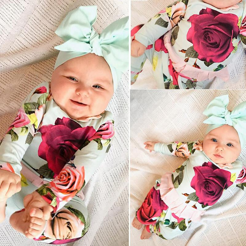 2-Piece Girl Flower Suit
