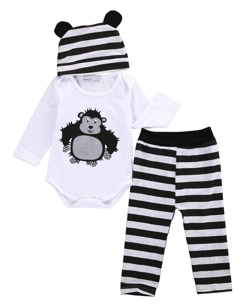 3-piece Boys and Girls Romper