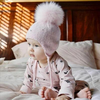 Winter Baby Knitted Pearl Wool Ball Cap
